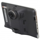 "7"" HD 720P Android 4.4 Car GPS DVR w/ Radar Camera US/CA Map - Black"