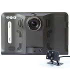 "7"" HD 720P Android 4.4 Car GPS DVR w/ Radar Camera BR Map - Black"