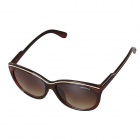 OREKA UV400 Protection PC Frame Grey PC Lenses Sunglasses - Coffee