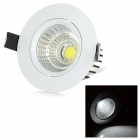 LeXing Lighting 5W Dimmable COB LED Ceiling Light White 6500K 350lm - White + Silver (AC 220~240V)