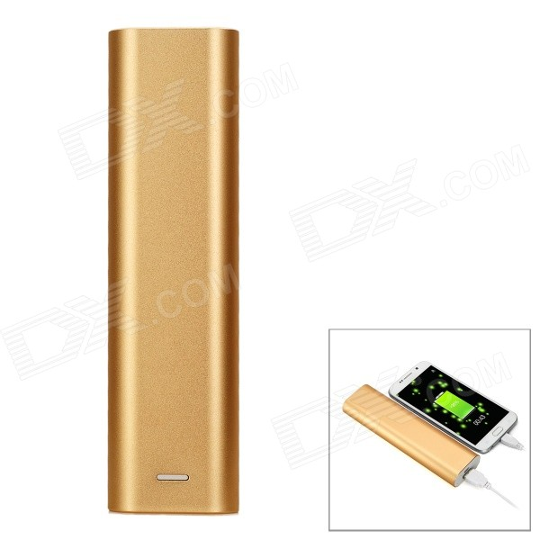 USB 4*18650 Flat-Top Batteries Power Bank Case w/ LED Indicator - Gold