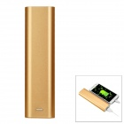 DIY 5V USB Output 4 x 18650 Flat-Top Batteries Mobile Power Bank Box Case w/ LED Indicator - Golden