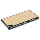 Mini Smile Aluminum Alloy Back Case for Sony Xperia Z4 - Golden