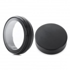 Plastic UV Filter Lens + Lens Cover Set for Xiaomi Xiaoyi Sports Camera - Black