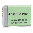 Replacement 3.6V 1250mAh Li-ion Battery for Canon PowerShot G7 X NB-13L - Beige + Grey