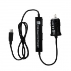 Micro USB Car Charger + USB 2.0 4-Port Hub for IPHONE / Samsung + More - Black