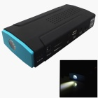 6000mAh 12V Car Emergency Launcher Jump Starter Power Bank w/ LED Torch + USB Output - Black + Blue