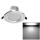YouOKLight 5W 500lm 6000K 15-SMD 5630 White Light LED Ceiling DownLight - Silver (AC 85~265V )