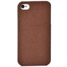Protective Plastic Back Case Cover for IPHONE 4 / 4S - Coffee