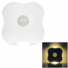 Stylish 6-LED Body Sensor Yellow Light Night Lamp - White (3 x AAA)