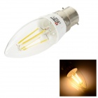 LeXing B22 4W 300lm 3500K Warm White LED Filament Candle Bulb