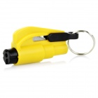 3-in-1 Emergency Car Safety Hammer + Belt Cutter + Keyring - Yellow