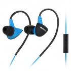 Kanen SPORT-S30 Stylish Sports In-Ear Ear Hook Headphones w/ Microphone - Blue + Black