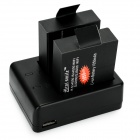 Piles Mini Smile Batteries + Dual Slot pour SJ5000, More -Black