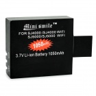 Mini Smie 3.7V 1050mAh Li-ion Battery for SJCAM SJ5000 / SJ5000 Wi-Fi / SJ4000 Wi-Fi + More - Black
