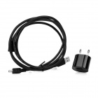 XT-053 USB-kabel + EU plug strømadapter kit for gopro 3+, 4, SJ4000