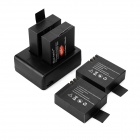 Mini Smile 3.7V 1050mAh Li-ion 4-Batteries + Dual Slot Charging Dock for SJCAM SJ5000 + More