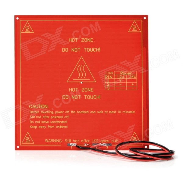 DIY Square PLA Substrate Heated Heat Bed Hot Plate for 3D Printer