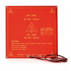 DIY Square PLA Aluminum Substrate Heated Heat Bed Hot Plate for 3D Printer - Red