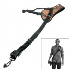 Neck Shoulder Nylon Camera Strap Single Shoulder Sling Black Belt Strap for SLR DSLR - Yellow