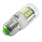 JIAWEN E27 6W 600lm 6500K White 30-LED Corn Lamp Bulb - White (220V)