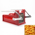 FineSource ST-08 French Fries Potato Cutter Slicer w/ 2 Blades - Red + White