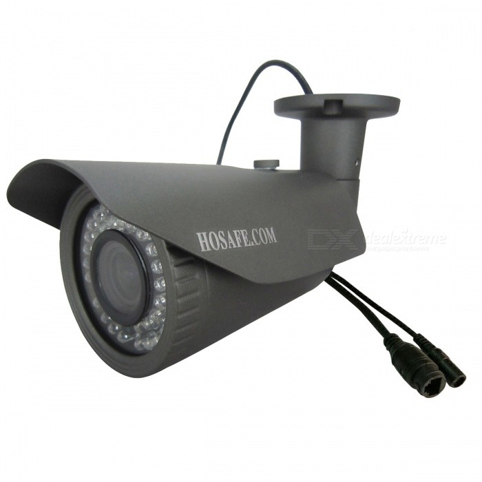 HOSAFE 1080P 2.0MP 2.8 ~ 12mm zoom POE cámara IP al aire libre - gris