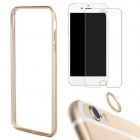 "Aluminum Bumper Case + Tempered Glass Screen Protector + Lens Guard Ring for IPHONE 6 4.7"" - Golden"
