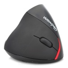 2.4GHz Wireless 1600DPI 5D Ergonomic Vertical Rechargeable Optical Mouse - Black