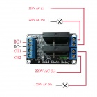 ZnDiy-BRY 2-Channel 5V Solid State Relay Module w/ Fuse (240V / 2A)