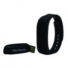 "finesource SW5 0,84"" bluetooth smart armbånd w / kalorikalkulator"