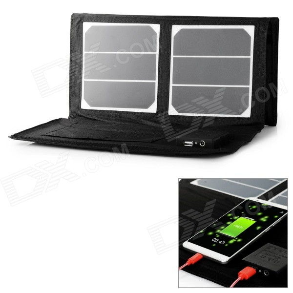 40W Solar Power Folding Panel - Black + White