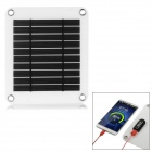 Ultrathin 5V Portable Solar Panel Charging Board - White + Black