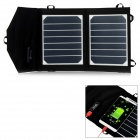 SW-SH07 Portable Ultrathin 7W Solar Power Charging Board - Black + White