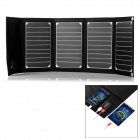 Outdoor Portable Folding 20W Solar Panel Powered Charger w/ USB 2.0 & 3.0 - Black + White