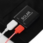 20W Solar Panel Powered Charger w/ USB 2.0 & 3.0 - Black + White