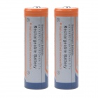 1800mAh 3.7V 18650 Rechargeable Lithium Ion Batteries - White (2 PCS)