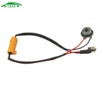 CARKING Socket 1156 coche LED ADVERTENCIA Error canceladora w / 50W 8 ohmios resistencia - oro + negro