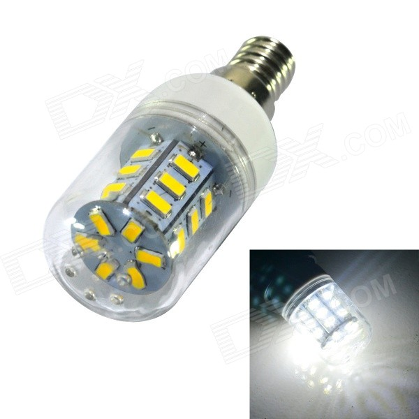JIAWEN E14 4W Corn Lamp Bulb Bluish White Light 500lm SMD 5730 (220V)E14<br>Form  ColorWhiteColor BINBluish WhiteModelE14-5730-24-4W-CWMaterialPlasticQuantity1 DX.PCM.Model.AttributeModel.UnitPower4WRated VoltageAC 220 DX.PCM.Model.AttributeModel.UnitConnector TypeE14Emitter TypeOthers,5730 SMD LEDTotal Emitters24Theoretical Lumens500 DX.PCM.Model.AttributeModel.UnitActual Lumens500 DX.PCM.Model.AttributeModel.UnitColor Temperature7000K,6000-6500KDimmableNoBeam Angle360 DX.PCM.Model.AttributeModel.UnitPacking List1 x LED light<br>