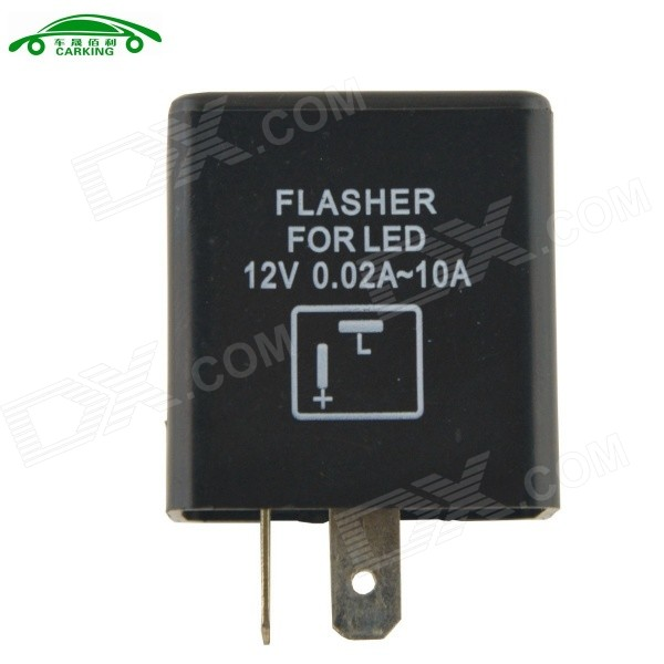 Auto Control Motorcycle 2P Flasher Relay LED Flasher - Black + White