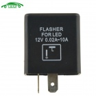 Auto Control Motorcycle Accessories 2P Flasher Relay LED Flasher for European Car - Black + White