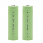 """2800mAh"" 3.7V 18650 Rechargeable Lithium-ion Battery - Green (2 PCS)"