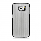 Mini smile Protective Aluminum Alloy Back Case Cover for Samsung Galaxy S6 / G9200 - Silver