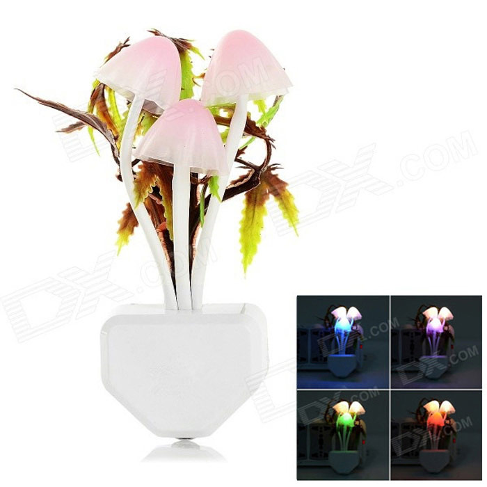 1W 3-LED Colorful Smart Optically Controlled Induction Night Lamp