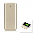 "J50 Mini Portable ""5000mAh"" Li-ion Battery Power Bank w/ Flashlight - Light Golden"