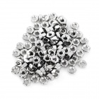 DIY M3 Carbon Steel Screw Nut - Silver (100pcs)