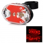 XM-L 9-LED Red Light 2lm 1-Mode Bike Tail Lamp w/ Mount Holder - Black + Red (2 x AAA)