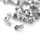 DIY 3 x 6 Carbon Steel Round Head Screw - Silver (100pcs)