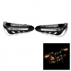 Motorcycle Brush Guard Hand Bar Handguard Protector w/ LED DRL / Turn Signal Lamp - Black (2pcs)
