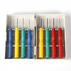 8-in-1 Stainless Steel Electrical Component Disassembling Pin Removing Tool Set - Red